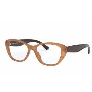 Tory Burch Milky Tortoise Shell Cat Eye Glasses